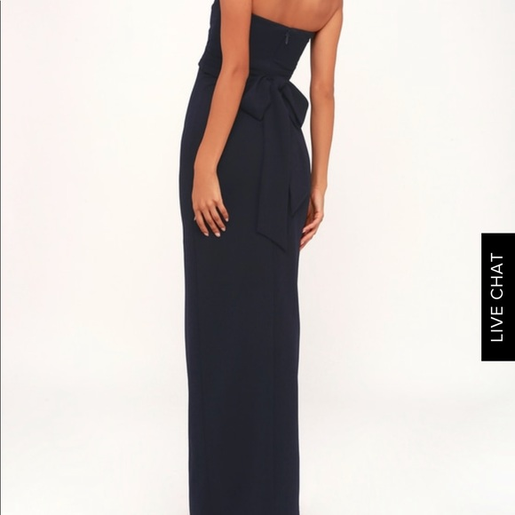Lulu s Own the Night Navy Blue Strapless Maxi 38f704486